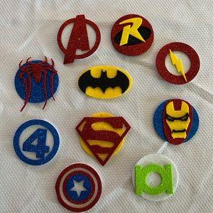 Super heroes 10 pcs figures party/room decorations
